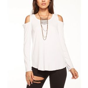 Chaser cool jersey cold shoulder t-shirt